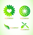 Bio eco logo icon set vector image vector image