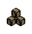 bitcoin black small bitcoin pyramid vector image