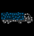 bright mesh 2d cargo wagon with flare spots vector image vector image