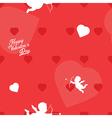 Bright red Valentine s Day seamless background vector image vector image
