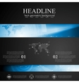 Brochure tech template with blue banner elements vector image vector image