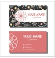Busines cards with floral pattern vector image vector image