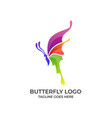 butterfly full color design concept template this vector image