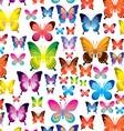 butterfly pattern on transparent background vector image vector image