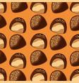chocolate candy chips seamless pattern vector image