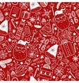 Christmas doodle background vector image