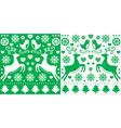Christmas green greetings card pattern vector image vector image
