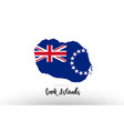 cook islands country flag inside map contour vector image vector image