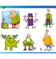 fantasy characters set vector image vector image