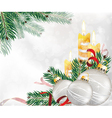 Festive Glitter Christmas Background vector image vector image