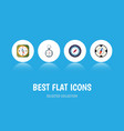 flat icon direction set of instrument magnet vector image vector image
