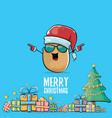 funky comic cartoon cute brown smiling vector image