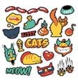 Funny Cats Badges Patches Stickers vector image vector image
