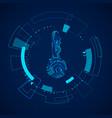futuristic hud elements sci fi touch vector image