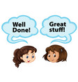 girls and bubble speech vector image vector image