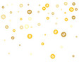 gold bitcoins confetti celebration falling golden vector image vector image