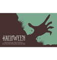 halloween background hand zombie collection vector image vector image