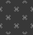 halloween seamless pattern flat design with vector image vector image