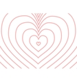 Infinity pink heart silhouette on white a4 size vector image