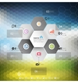 Infographic for business geometric background vector image vector image