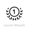 laurel wreath cup icon editable line vector image