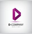 Letter D logo Alphabet logotype design