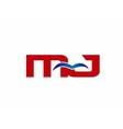 Letter MJ Logo vector image vector image