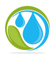 logo icon with clean water management concept vector image vector image