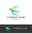 loop abstract company logo vector image vector image