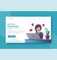 online assistant landing page vector image
