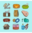 pet dog doodle icons vector image vector image