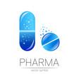 pharmacy symbol for pharmacist pharma vector image vector image
