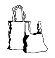 plastic shopping bag market handle retail icon vector image vector image