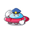 police ufo character cartoon style vector image