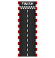racing road start and finish vector image
