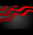 Red and black abstract corporate waves background