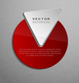 red shape vector image vector image