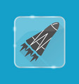rocket silhouette icon in flat style on vector image
