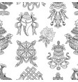 seamless pattern with buddhism symbols vector image