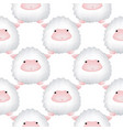 seamless pattern with lambs cute animal backdrop vector image vector image