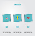 set of auto icons flat style symbols with air vector image