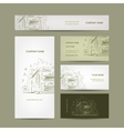 Set of business cards design with country house vector image vector image