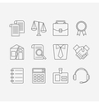 set of modern flat line icons for law firm vector image