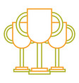 set of trophy award prize winner vector image