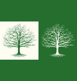set two silhouettes a bare tree vector image vector image