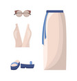 skirt and top summer mode vector image vector image