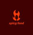 spicy food logo vector image vector image