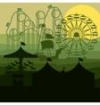 sunset background amusement park vector image