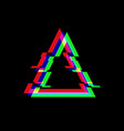 symbol triangle in glitch style vector image vector image