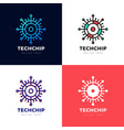 technology - logo template for corporate identity vector image